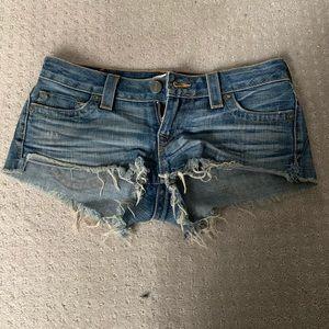 True religion jean shorts 28